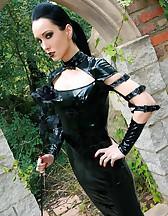 Dark Princess in shiny black PVC