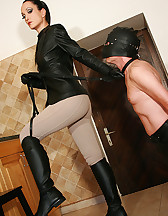 Stable boy cums on my riding boots