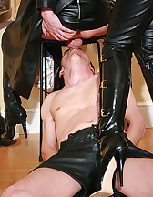 Mistress and TS dominate slave