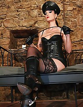 Military Domme in boots and spurs