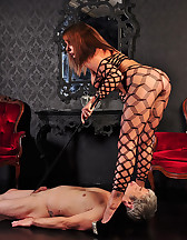 Slave's cock punished