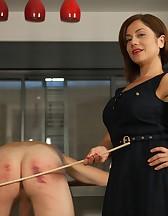 Goddess Canes Her Slave