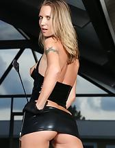 Alina Long in Black Latex