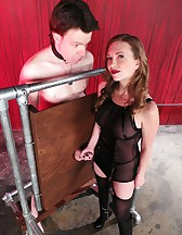 Mistress T milking