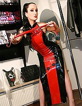 Real life latex fitting in Munich