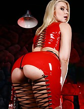 Annika in Red Latex