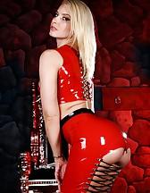 Annika in Red Latex