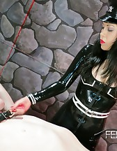 Asian Mistress Chastity tease, pic #7