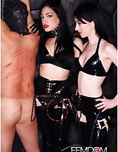 Cybill & Mina in Black Latex, pic #1