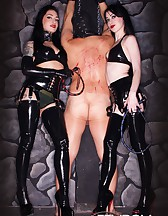 Cybill & Mina in Black Latex, pic #11