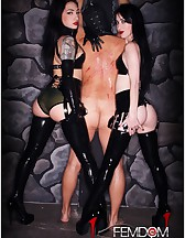 Cybill & Mina in Black Latex, pic #14