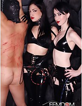 Cybill & Mina in Black Latex, pic #6