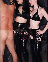 Cybill & Mina in Black Latex, pic #9