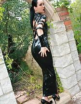 Dark Princess in shiny black PVC, pic #14