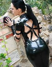 Dark Princess in shiny black PVC, pic #4