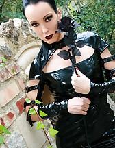 Dark Princess in shiny black PVC, pic #6