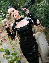 Dark Princess in shiny black PVC, pic #7
