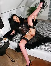 Morning masturbation in hot nylons, pic #8