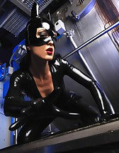 Sexy Cat Bitch poses in latex, pic #11