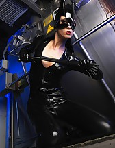 Sexy Cat Bitch poses in latex, pic #12