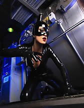 Sexy Cat Bitch poses in latex, pic #13