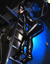 Sexy Cat Bitch poses in latex, pic #10