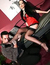 Teased and denied nylon lover, pic #3