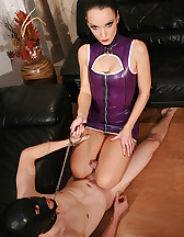 Slaves abused by two sexy Dommes, pic #14