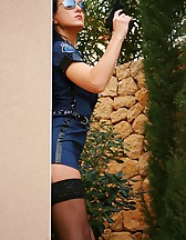 Fetish cop gets dirty outdoors, pic #1