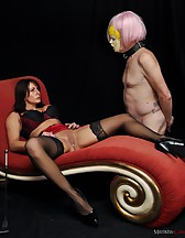 Slave dressed as a fuck doll, pic #11