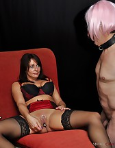 Slave dressed as a fuck doll, pic #12