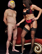 Slave dressed as a fuck doll, pic #5