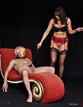 Slave dressed as a fuck doll, pic #6