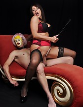 Slave dressed as a fuck doll, pic #8