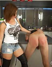 Handjob after an Ass Whipping, pic #4