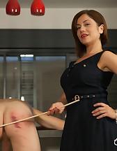 Goddess Canes Her Slave, pic #12