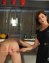 Goddess Canes Her Slave, pic #14