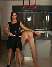 Goddess Canes Her Slave, pic #2