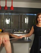 Goddess Canes Her Slave, pic #4