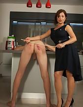 Goddess Canes Her Slave, pic #10
