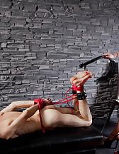 Curvy Mistress, skinny slave, pic #13