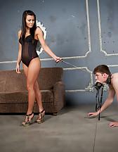 Huge strap-on for slave, pic #3