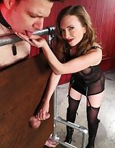 Mistress T milking, pic #12