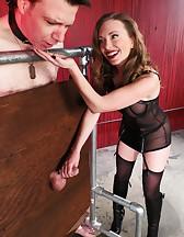 Mistress T milking, pic #14