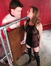 Mistress T milking, pic #4