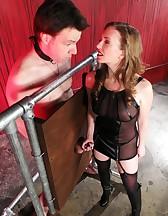 Mistress T milking, pic #5