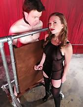 Mistress T milking, pic #6