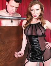 Mistress T milking, pic #9