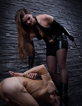 Pissing on slave